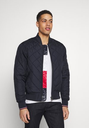 CHEVRON QUILTED  - Bomber bunda - blue