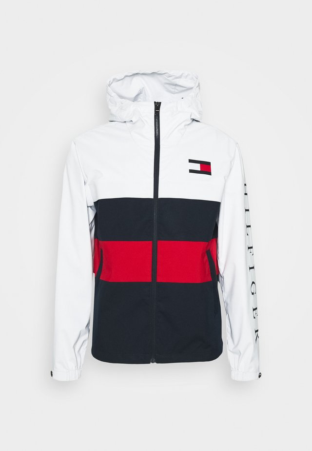 COLOURBLOCK HOODED JACKET - Sadetakki - white