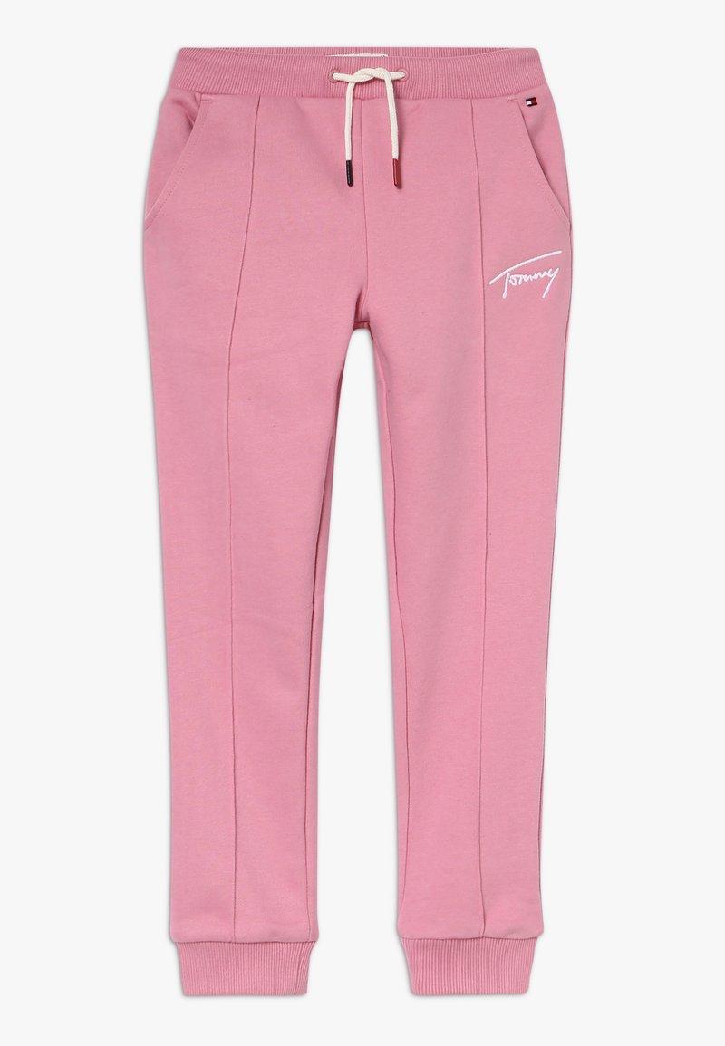Tommy Hilfiger - TAPERED SIGNATURE - Pantalon de survêtement - light pink