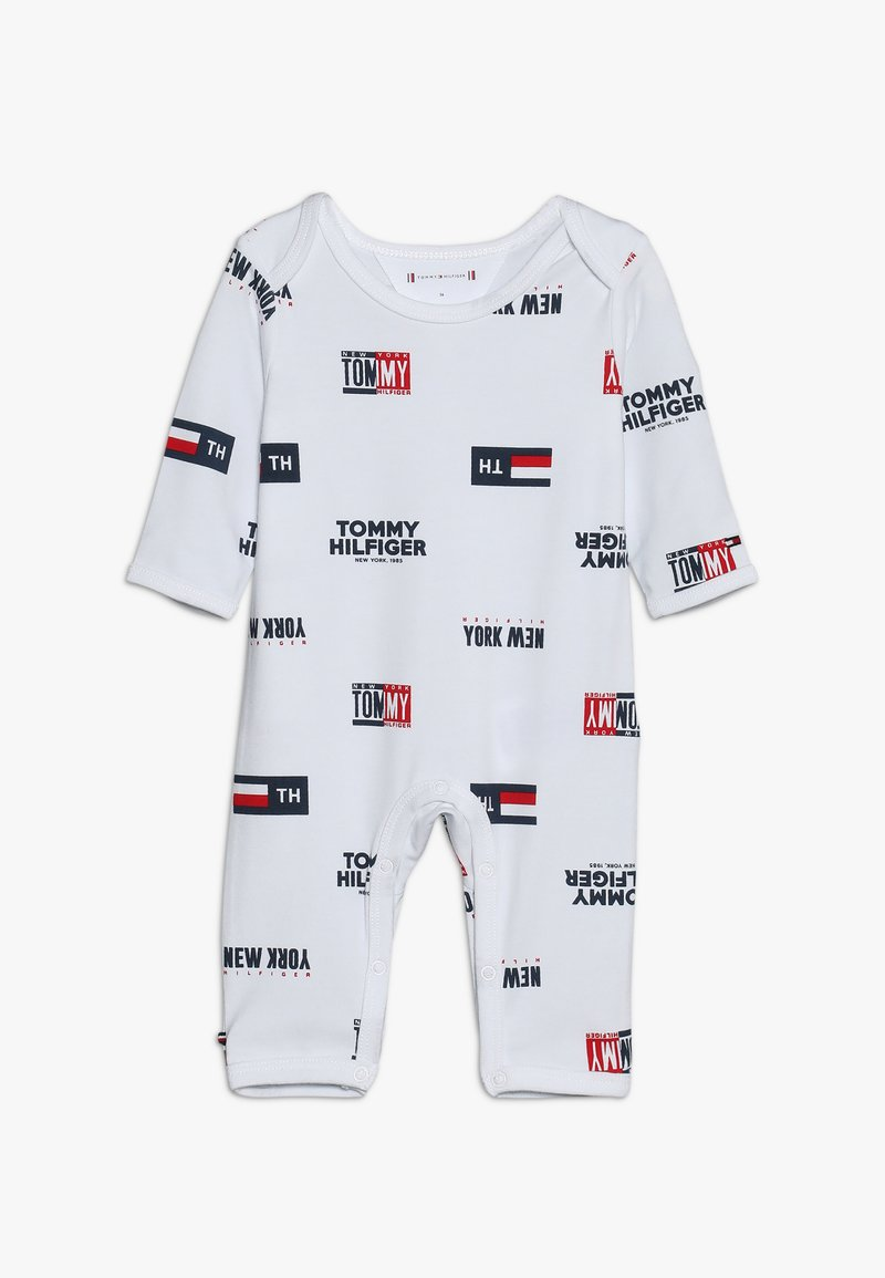 Tommy Hilfiger - BABY ALL OVER PRINT COVERALL - Jumpsuit - bright white
