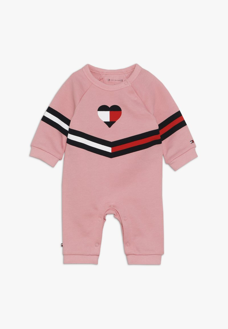 Tommy Hilfiger - BABY PRINT COVERALL - Jumpsuit - pink icing