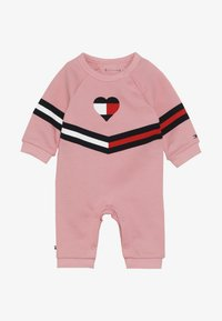 Tommy Hilfiger - BABY PRINT COVERALL - Jumpsuit - pink icing - 4