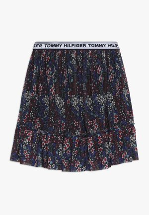 FLORAL ALL OVER PRINTED SKIRT - Jupe trapèze - blue