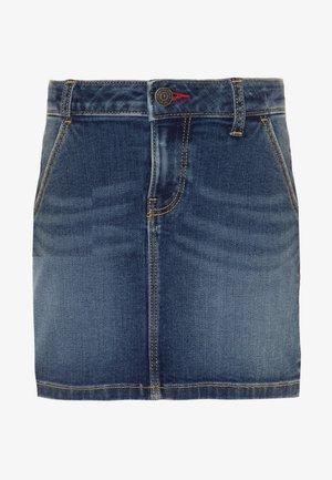 BASIC SKIRT  - Denimová sukně - denim