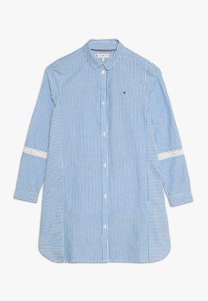 TAPE SHIRT DRESS - Shirt dress - blue