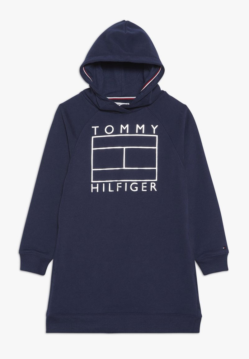 Tommy Hilfiger - ESSENTIAL FLAG DRESS - Denní šaty - blue