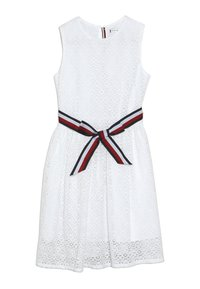 Tommy Hilfiger - STRIPE DRESS  - Cocktail dress / Party dress - white - 0