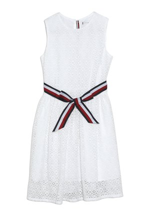 STRIPE DRESS  - Cocktail dress / Party dress - white