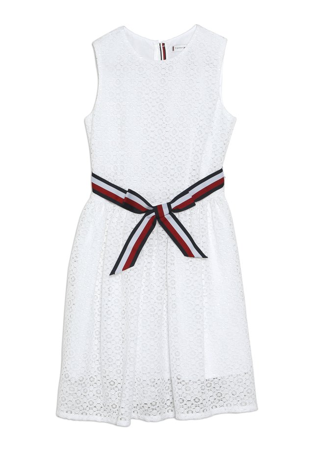 STRIPE DRESS  - Vestido de cóctel - white