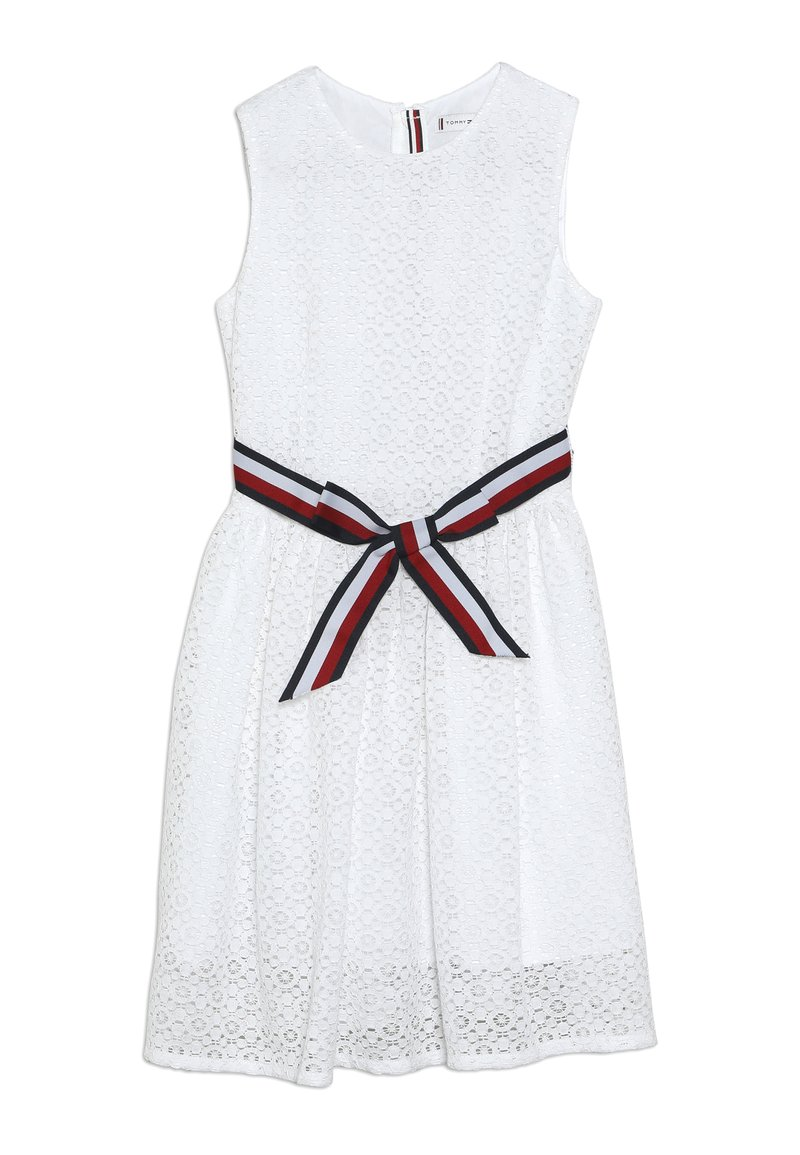 Tommy Hilfiger - STRIPE DRESS  - Cocktail dress / Party dress - white