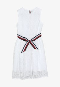 Tommy Hilfiger - STRIPE DRESS  - Cocktail dress / Party dress - white - 3