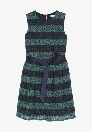 STRIPE DRESS  - Cocktailkleid/festliches Kleid - blue