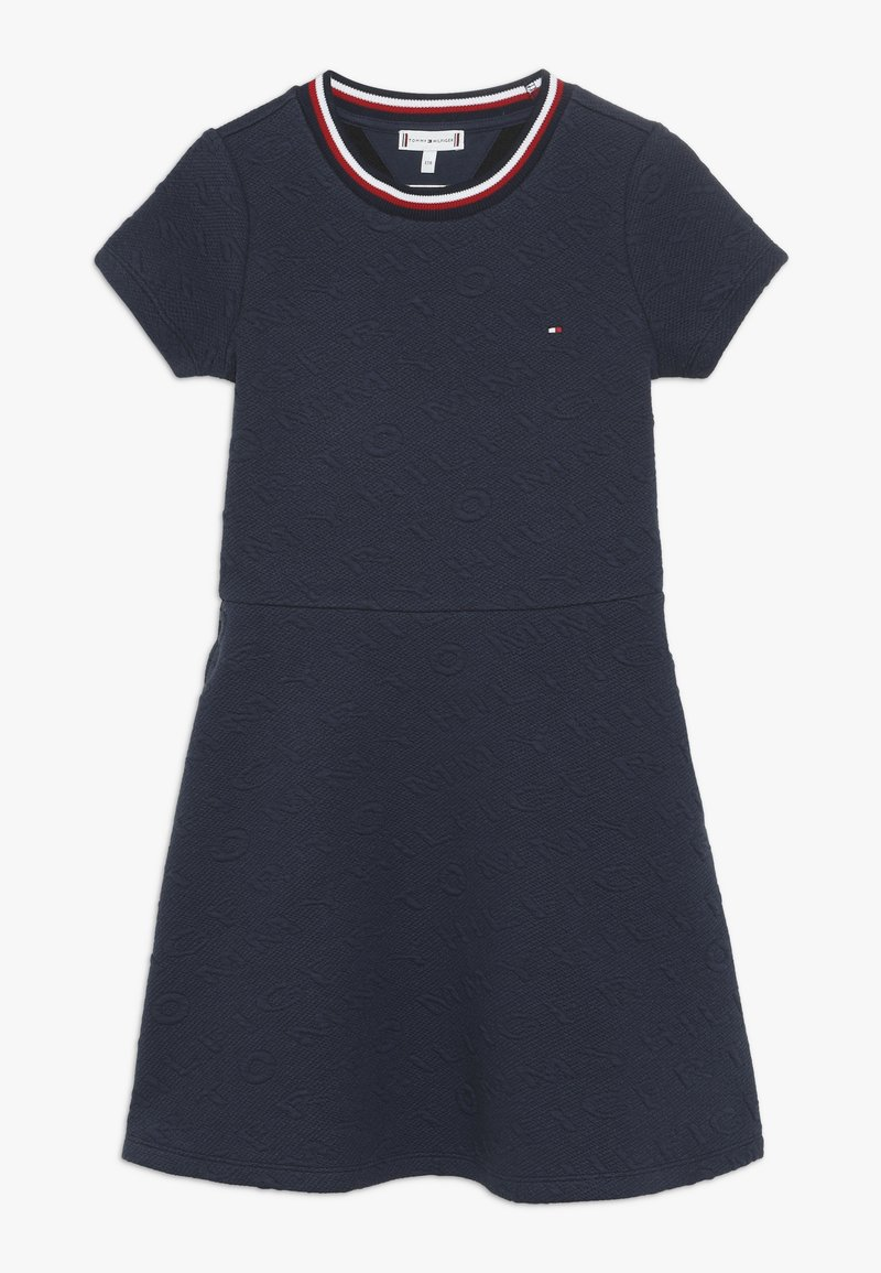 Tommy Hilfiger - SKATER DRESS - Jersey dress - blue