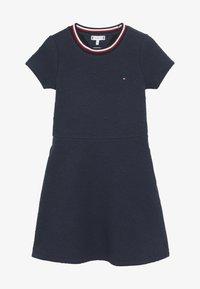 Tommy Hilfiger - SKATER DRESS - Jersey dress - blue - 3