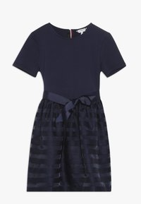 Tommy Hilfiger - STRIPE COMBI DRESS - Cocktail dress / Party dress - blue - 0
