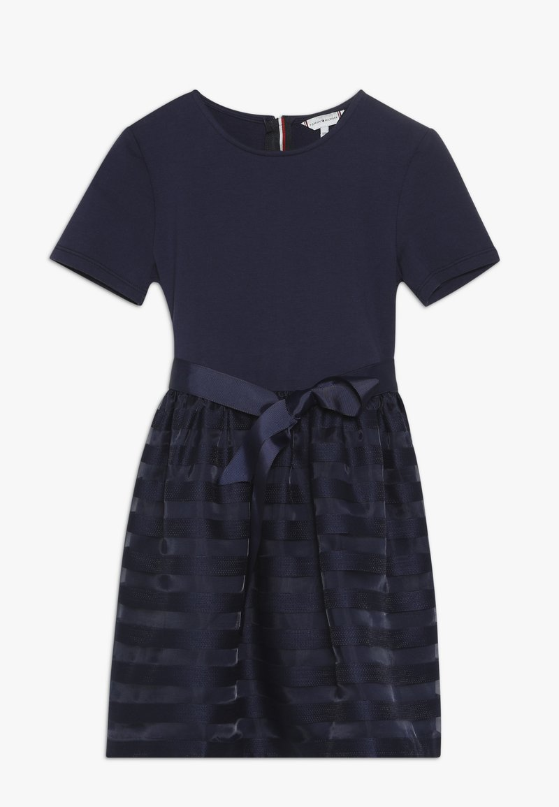 Tommy Hilfiger - STRIPE COMBI DRESS - Cocktail dress / Party dress - blue