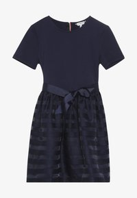 Tommy Hilfiger - STRIPE COMBI DRESS - Cocktail dress / Party dress - blue - 3