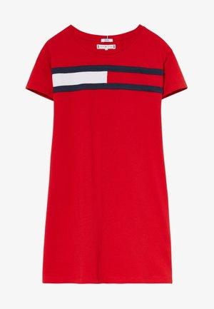 FLAG DRESS  - Vestito di maglina - red