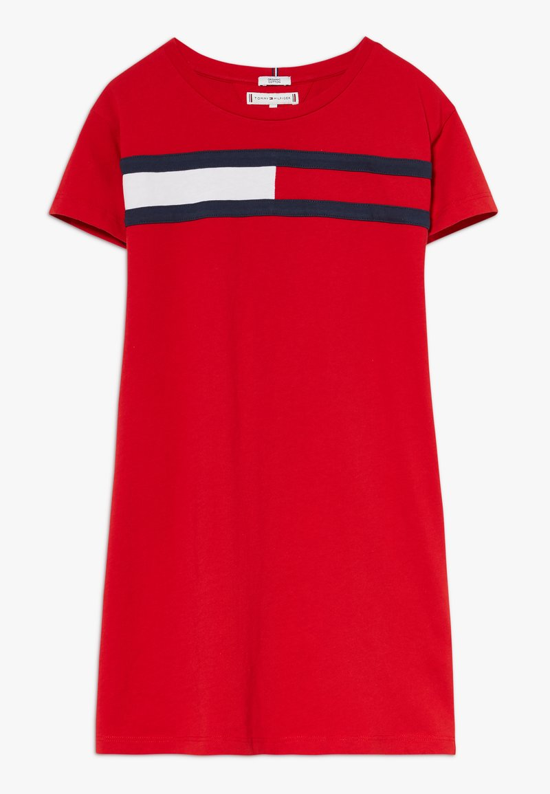 Tommy Hilfiger - FLAG DRESS  - Trikoomekko - red