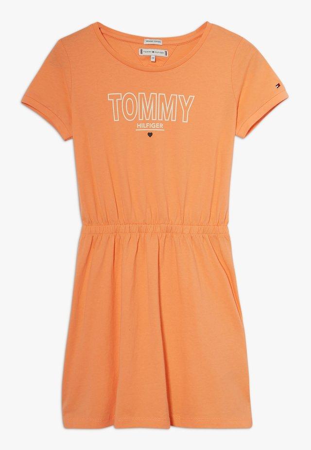 TEE DRESS  - Jerseyjurk - orange