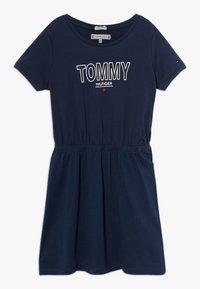 Tommy Hilfiger - TEE DRESS  - Žerzejové šaty - blue - 0