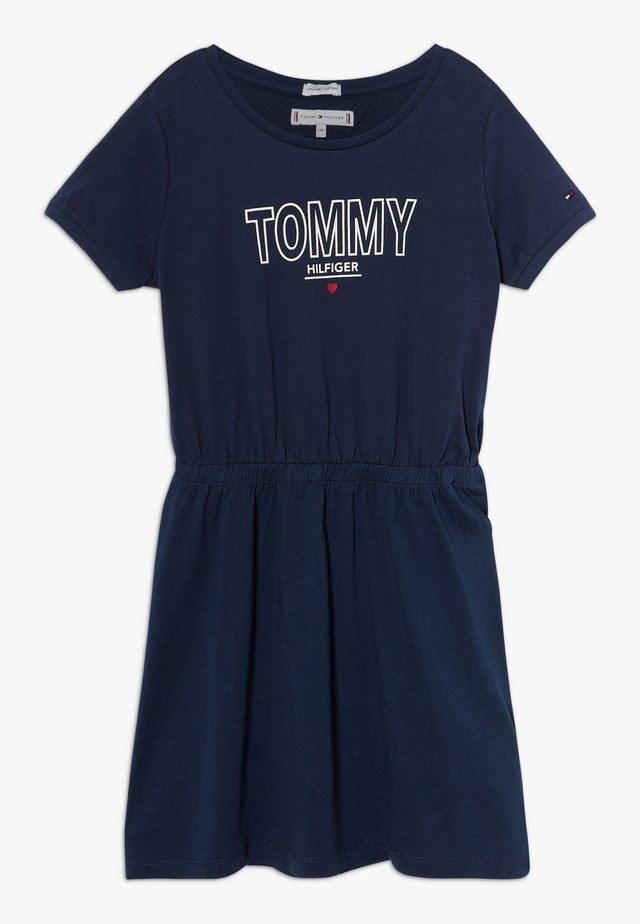 TEE DRESS  - Jersey dress - blue