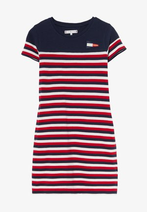 STRIPE TEE DRESS - Žerzejové šaty - white