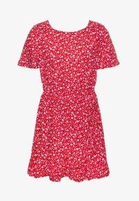 Tommy Hilfiger - FLORAL PRINT DRESS - Day dress - red - 0