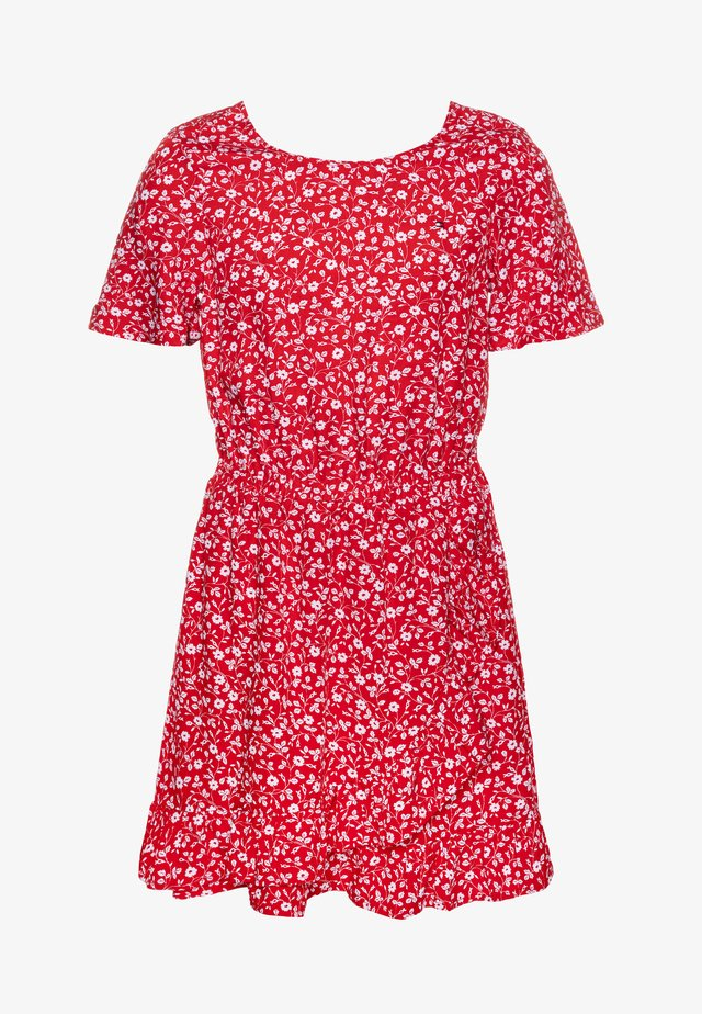 FLORAL PRINT DRESS - Day dress - red
