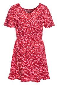 Tommy Hilfiger - FLORAL PRINT DRESS - Day dress - red - 1