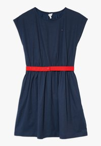 Tommy Hilfiger - SOLID BELTED DRESS - Jersey dress - blue - 0