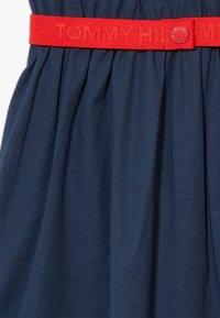 Tommy Hilfiger - SOLID BELTED DRESS - Jersey dress - blue - 4