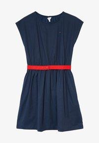 Tommy Hilfiger - SOLID BELTED DRESS - Jersey dress - blue - 3