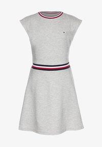 Tommy Hilfiger - ESSENTIAL SKATER DRESS  - Jersey dress - grey - 0