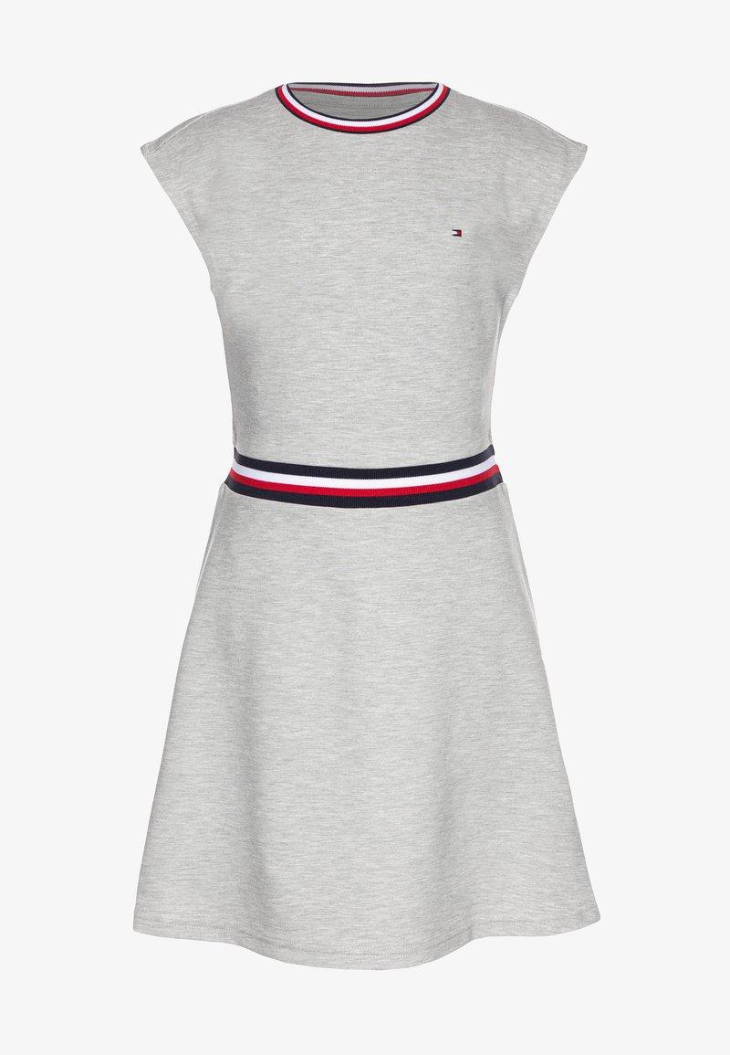 Tommy Hilfiger - ESSENTIAL SKATER DRESS  - Jersey dress - grey