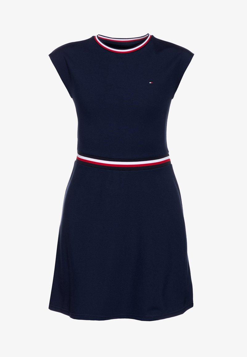 Tommy Hilfiger - ESSENTIAL SKATER DRESS  - Jersey dress - blue