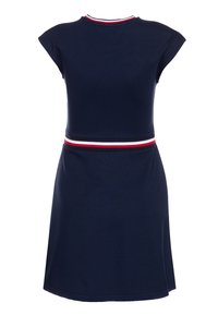 Tommy Hilfiger - ESSENTIAL SKATER DRESS  - Jersey dress - blue - 1