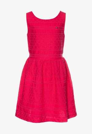 BRODERIE ANGLAISE DRESS  - Cocktail dress / Party dress - pink
