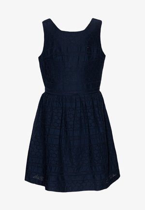 BRODERIE ANGLAISE DRESS  - Cocktailjurk - blue