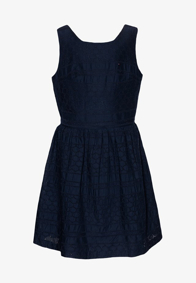 BRODERIE ANGLAISE DRESS  - Cocktail dress / Party dress - blue