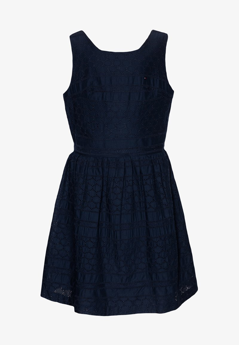 Tommy Hilfiger - BRODERIE ANGLAISE DRESS  - Cocktail dress / Party dress - blue