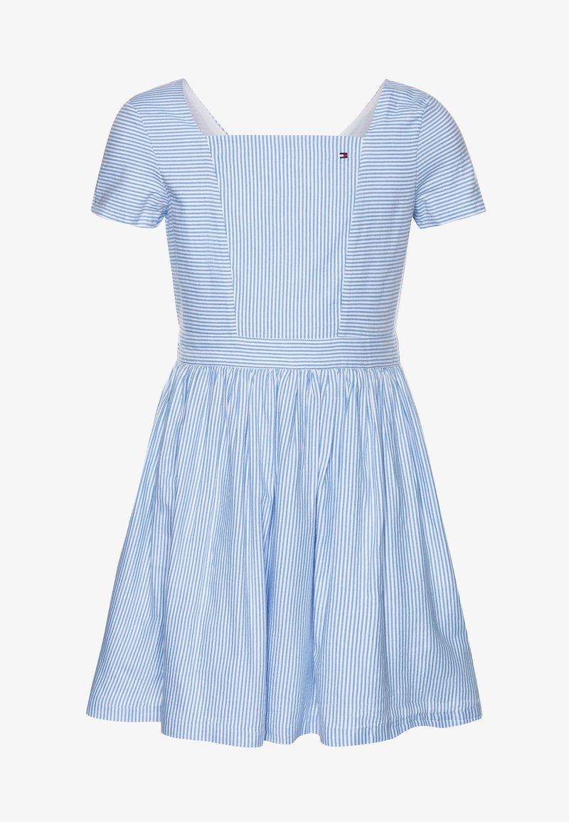 Tommy Hilfiger - ITHAKA STRIPE DRESS - Day dress - blue