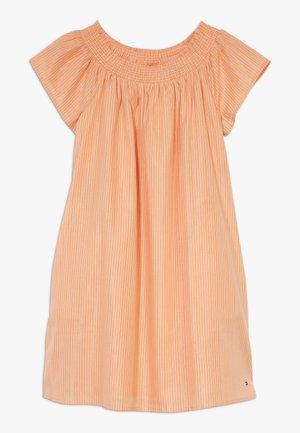 STRIPE DRESS - Day dress - orange