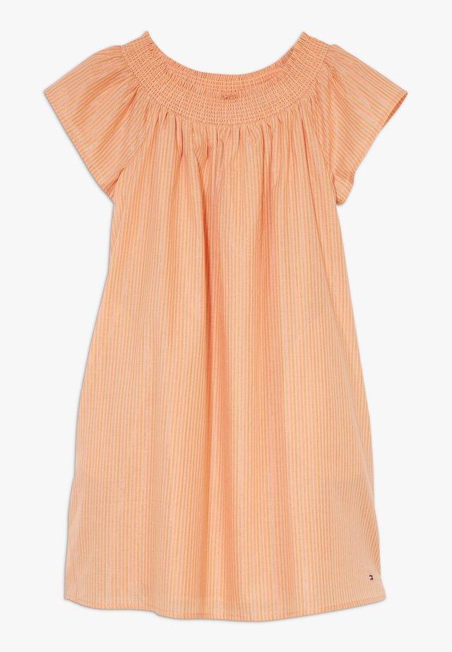 STRIPE DRESS - Korte jurk - orange