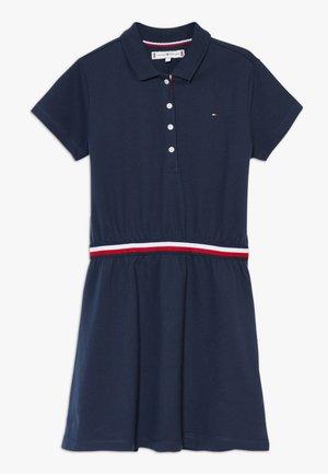 GLOBAL STRIPE  DRESS  - Žerzejové šaty - blue