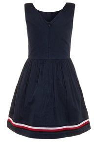 Tommy Hilfiger - GLOBAL STRIPE TAPE DRESS  - Day dress - blue - 1