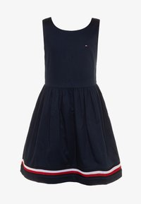 Tommy Hilfiger - GLOBAL STRIPE TAPE DRESS  - Day dress - blue - 0