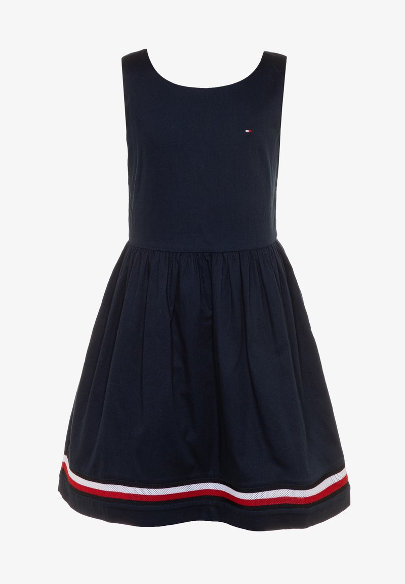 Tommy Hilfiger - GLOBAL STRIPE TAPE DRESS  - Day dress - blue