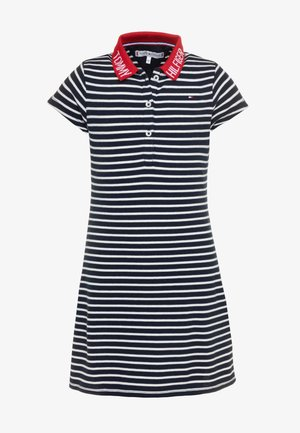 COLLAR DETAIL POLO DRESS - Day dress - blue