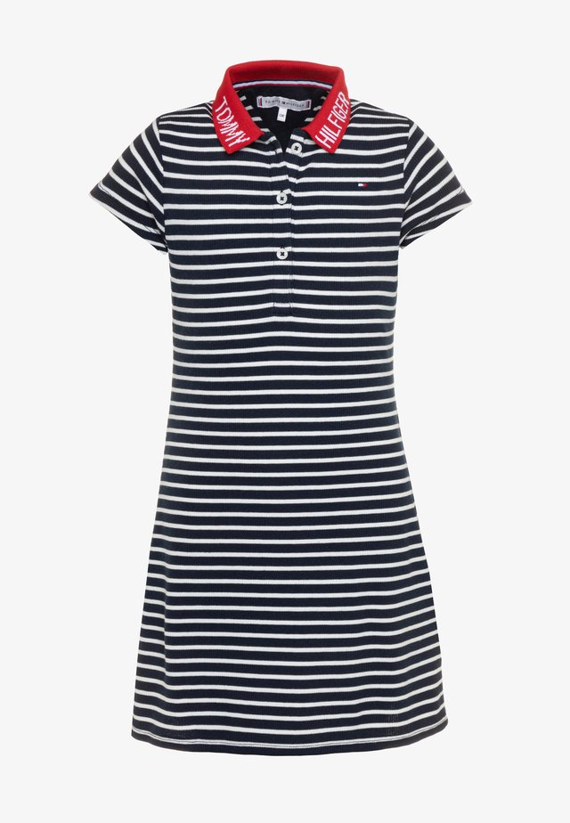 COLLAR DETAIL POLO DRESS - Vestido informal - blue
